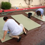 Old Dojo: Ginny and Robert Scrubbing Tatami